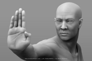 Shaolin: Clay Render 001 by EtherealProject
