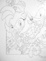 Sonic wall group painting amy by NamineEveningLight