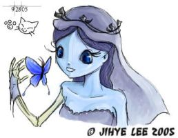Corpse Bride and Butterfly by KinkyAzianKitty