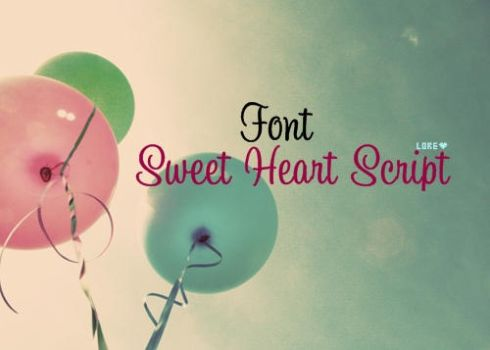 Font Sweetheart by LoreEditiions