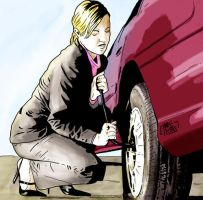 Flat tire by yescabrita