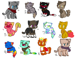 Cheap Kitty Adopts! //OPEN// by SNlCKERS