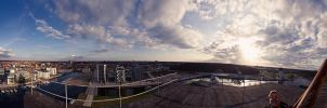 panorama at docks by Dullface