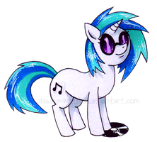 Vinyl Scratch by shadow-wolf051
