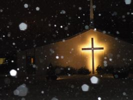 the snow hiting religion by Richardbargowski