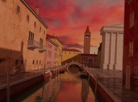 Venice sunset by forgedOrder