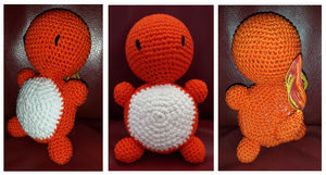 Charmander Amigurumi Baby Rattle by rose-chan90