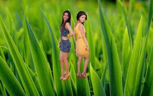 Shrunken Victoria Justice Selena Gomez in Grass!!! by randomstuff126