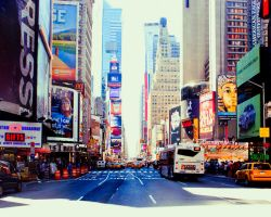 New York Minute. .. by lipstickmisfit
