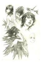 Girl with Birds by Irontree
