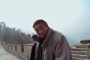 Chinese local on the Great Wall by lilmoz