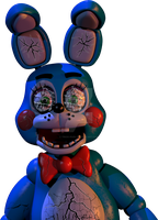 Cracked Toy Bonnie by unforgiven-squidkid