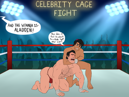 Celebrity Wrestling: Aladdin Owns Gaston Part 3 by toongalore