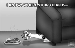 Where your steak is by TaniDaReal