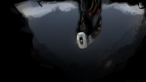 GLaDOS Wallpaper by skrillbug