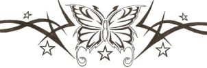 Butterfly Tribal Back tattoo by vipergts1011