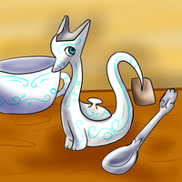 Tea cup dragon by CleverConflict