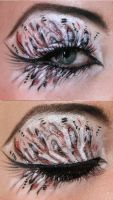Red lionfish makeup by Jangsara