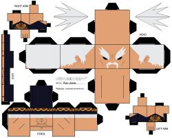 heihachi mishima cubeecraft by melopruppo