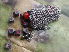 New Chainmaille Dicebags by ofmyhats