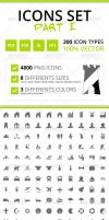200 Rough Icons (Icons Set Part I) by felipelessa
