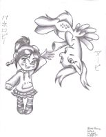 Derpy and Vanellope: More than a Glitch by xcesskinavira