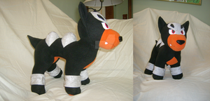 Comm: Houndour Plush by xxtemporaryinsanity