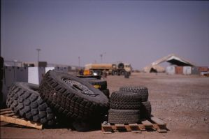 Tires in Iraq by ChristopherSacry