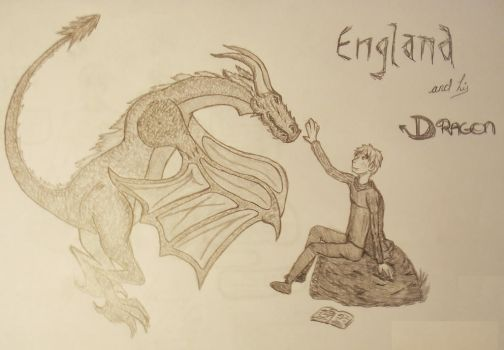 England and his Dragon by SkeletalTears