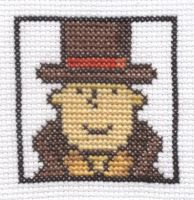 Professor Layton cross stitch by Lil-Samuu