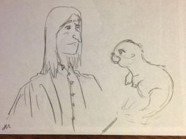 Snape Doodle 235 by dragoon811