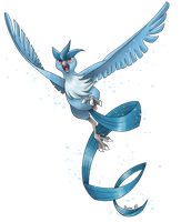 Articuno's flight by allocen