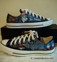 DR SEUSS-hand painted Converse by alcat2021