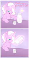 a glass of milk by Lamiaaaa
