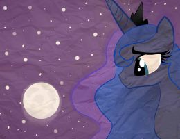 Luna and her moon by Balloons504