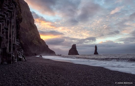 Reynisdrangar Sunrise by Annie-Bertram