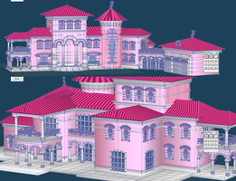Barbie Dream House WIP 1 by chatterHEAD
