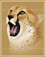 Little Cheetah, Little Yawn by Chaotica-I