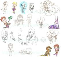 Watchmen Chibi Sketch Dump by Joz-yyh
