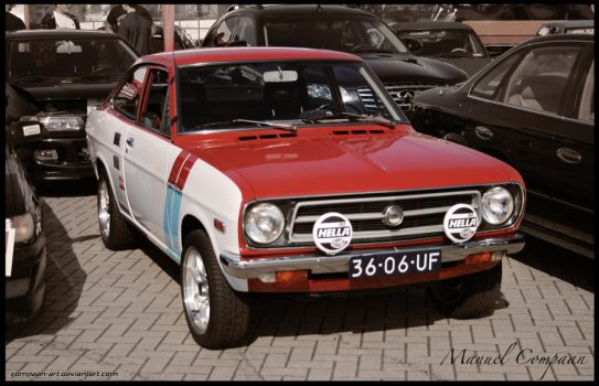 1972 Datsun 1200 Coupe by compaan-art