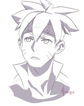 Boruto Sketch by UnboundExile