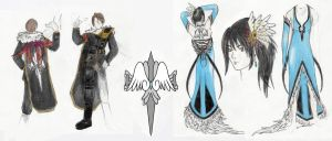 Squall_Rinoa Coloured ReDesign by MercyMurrain