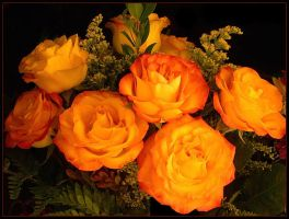 ORANGE ROSE BOUQUET by THOM-B-FOTO