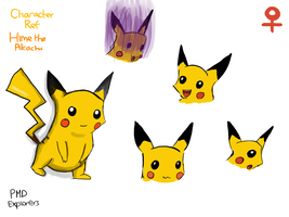 Character Reference: Hime the Pikachu by Pokefuturemarsh