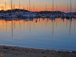 Georgetown Harbor Sunset by FauxHead