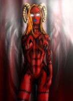 Demoness in Red by MuddyGreen