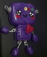 Purple Robot Pendent by SkitSkittle
