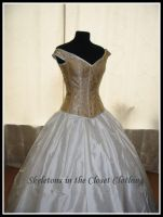 Corsetted wedding dress by BlackvelvetSITC