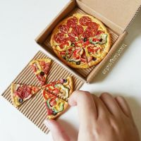 1:3 miniature Pizza slices by Snowfern