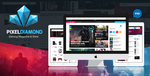 Pixel Diamond PSD Gaming Magazine + Store by odindesign